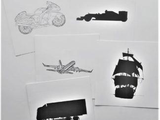 Set kaarten voertuigen